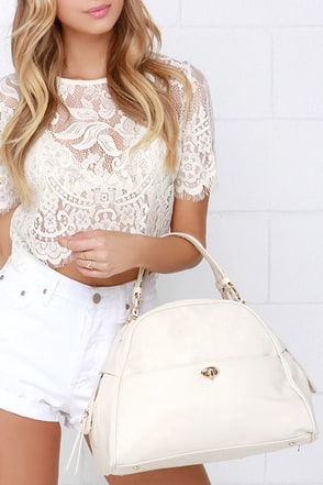 In the Fast Lane Ivory Handbag at Lulus.com!