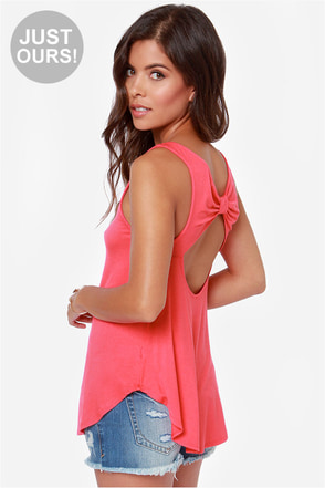 LULUS Exclusive Fun For All Berry Pink Tank Top