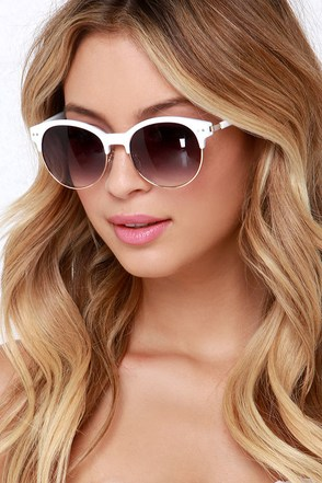 Make a Spectacle Gold and Ivory Sunglasses at Lulus.com!