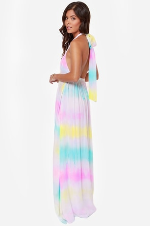 Totally Beachin' Tie-Dye Halter Maxi Dress