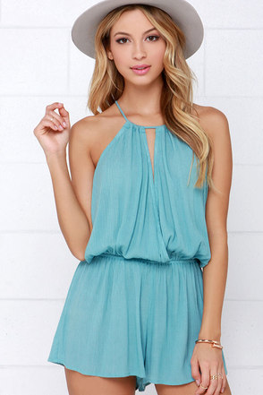 Show Me the Anemone Black Romper at Lulus.com!