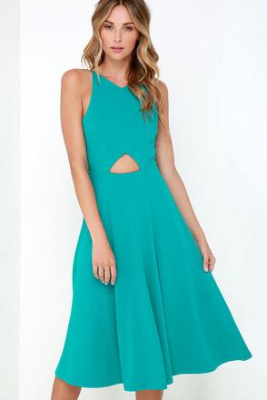 Drops of Jupiter Teal Midi Dress at Lulus.com!