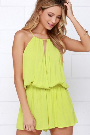 Show Me the Anemone Turquoise Romper at Lulus.com!
