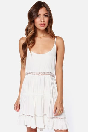 A Near Myth Backless Ivory Dress