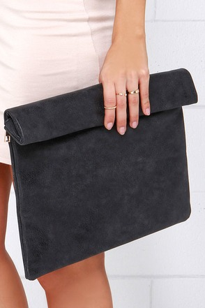 Rollin' on the River Grey Clutch at Lulus.com!
