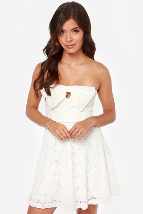 Bow One Does It Better Ivory Lace Dress