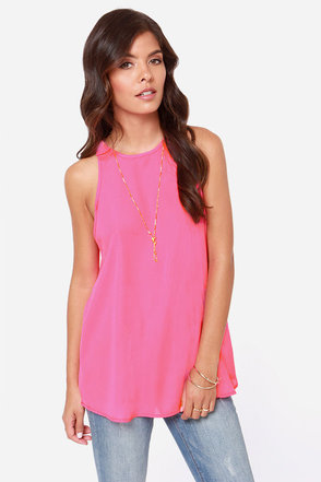 At First Crush Hot Pink Top
