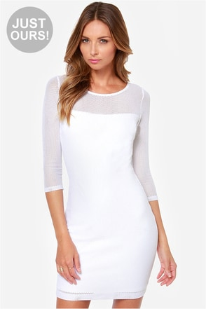 LULUS Exclusive Net Worth White Dress
