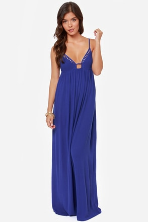 LULUS Exclusive Deep End Dive Turquoise Maxi Dress