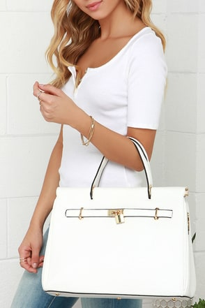 Shift Into Fly Gear White Handbag at Lulus.com!