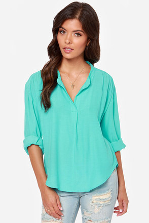 Lucy Love Pickadilly Turquoise Top
