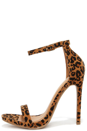 Boldest Trick in the Book Leopard Suede Ankle Strap Heels at Lulus.com!