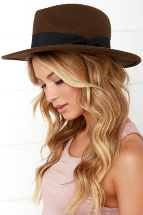 French Quarter Brown Fedora Hat at Lulus.com!