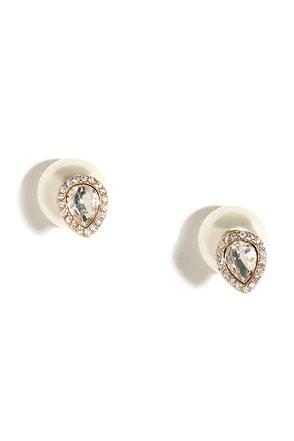 Precious Drops Rose Gold and Pearl Peekaboo Earrings at Lulus.com!