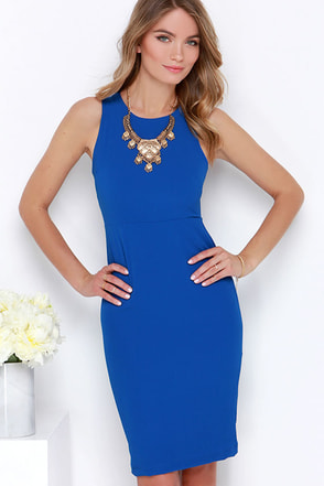 Bright Idea Blue Bodycon Midi Dress at Lulus.com!