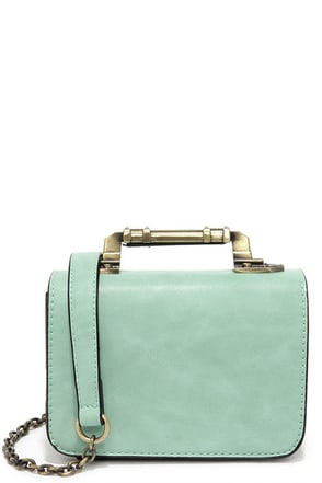 Meet in the Metal Mint Green Mini Handbag at Lulus.com!