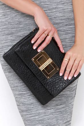 Magic Trick Black Clutch at Lulus.com!