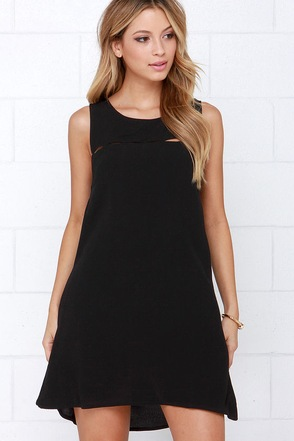 Break the Spell Black Dress at Lulus.com!