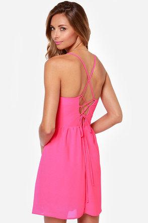 Cute or Dare Fuchsia Dress at Lulus.com!