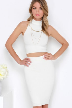 Month of Sundays Cream Bodycon Two-Piece Dress at Lulus.com!