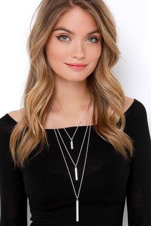 Un Deux Trois Silver Layered Necklace at Lulus.com!