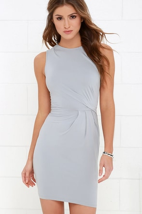 Sought After Grey Dress at Lulus.com!
