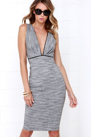 Coastal Mist Grey Midi Dress at Lulus.com!