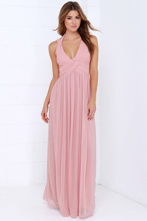 Strike a Minerva Dusty Pink Maxi Dress at Lulus.com!