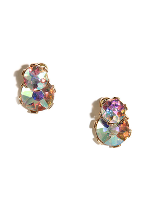 Smitten Kitten Pink Iridescent Peekaboo Earrings at Lulus.com!
