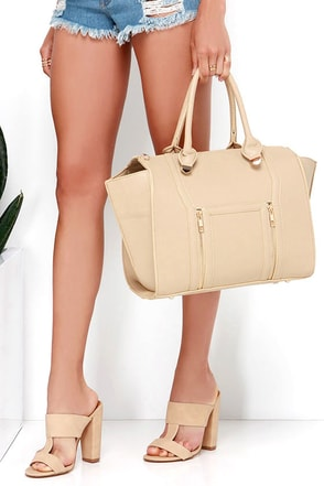 Wing-Woman Nude Handbag 2
