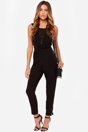 Lumier The Artist Black Jumpsuit