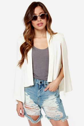 Lumier Angel Wings Ivory Blazer