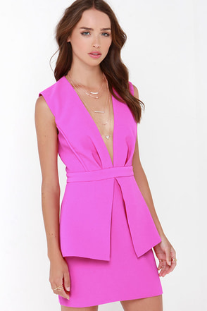 Finders Keepers Next In Line to Take a Bow Fuchsia Dress at Lulus.com!