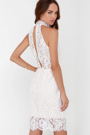 Keepsake One Night Ivory Lace Midi Dress at Lulus.com!
