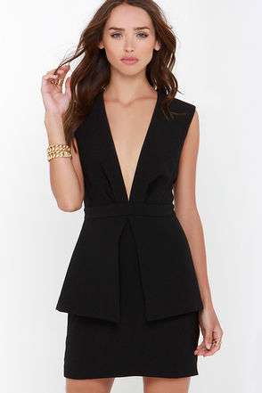 Finders Keepers Next In Line to Take a Bow Black Dress at Lulus.com!