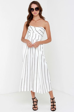 Keepsake True Awakening Black and White Striped Jumpsuit at Lulus.com!