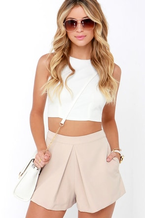 A Different Angle Beige Shorts at Lulus.com!