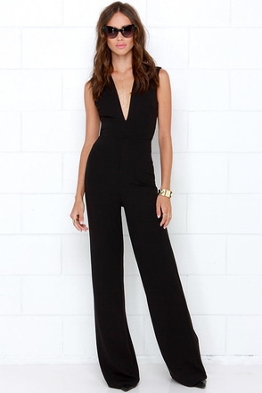 Cat's Meow Black Jumpsuit at Lulus.com!