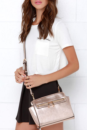 Zip-a-Dee-Doo Rose Gold Purse at Lulus.com!