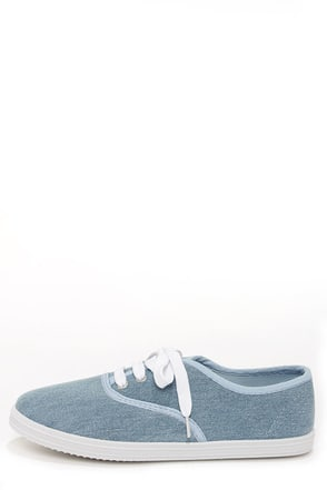 Bamboo Buddy 01 Light Blue Denim Sneakers