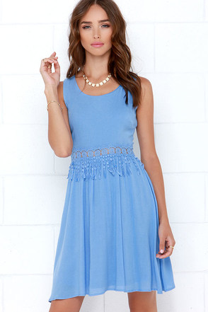 Anthology of Poems Periwinkle Lace Dress at Lulus.com!