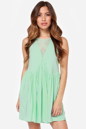 Mink Pink Born Free Cutout Mint Green Dress
