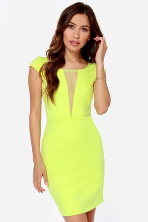 Black Swan Noire Chartreuse Dress
