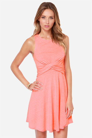 Cross Examine Neon Pink Dress