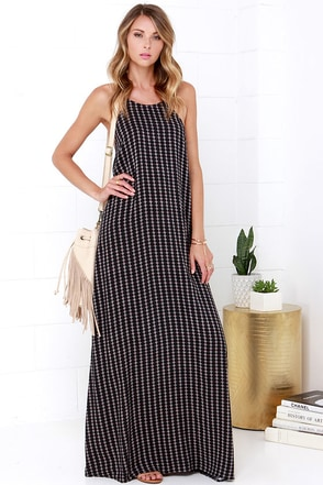 South, West, Home's Best Black Print Maxi Dress at Lulus.com!
