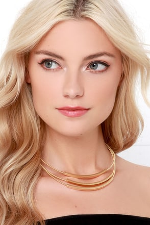 Soulful Gaze Gold Layered Necklace at Lulus.com!