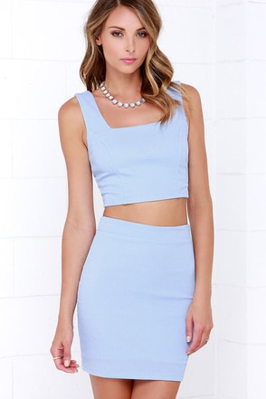 Almost Doesn't Count Periwinkle Bodycon Two-Piece Dress at Lulus.com!