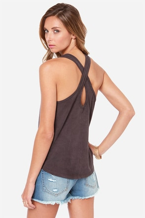 Obey Barstow Washed Black Tank Top