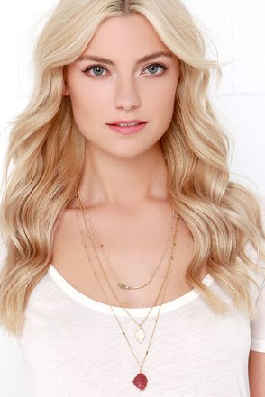 Janglin' Gold Layered Necklace at Lulus.com!