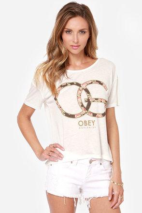 Obey Emporium OG Ivory Print Tee
